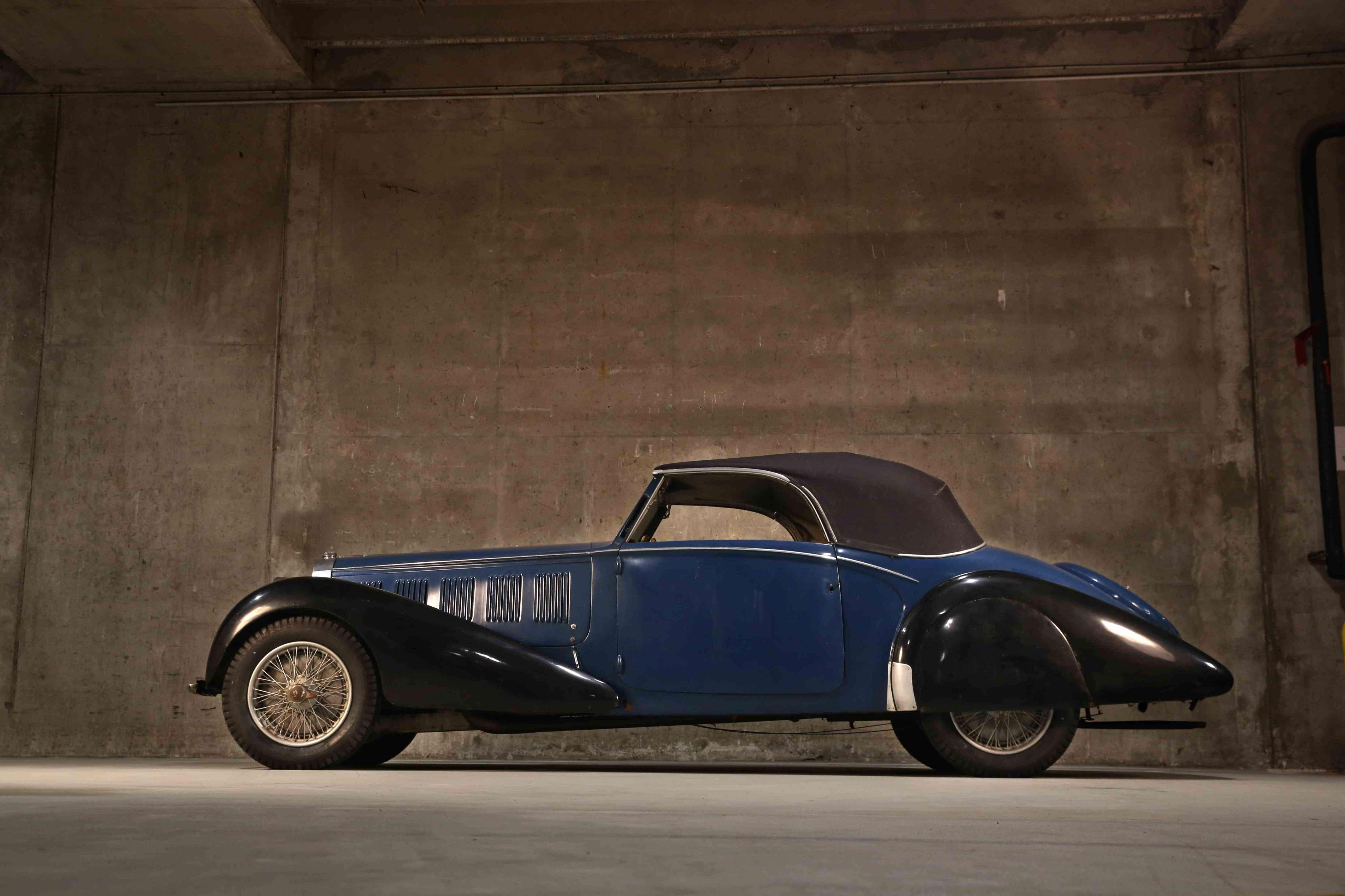 1937 Bugatti Type 57 Cabriolet par Graber side profile