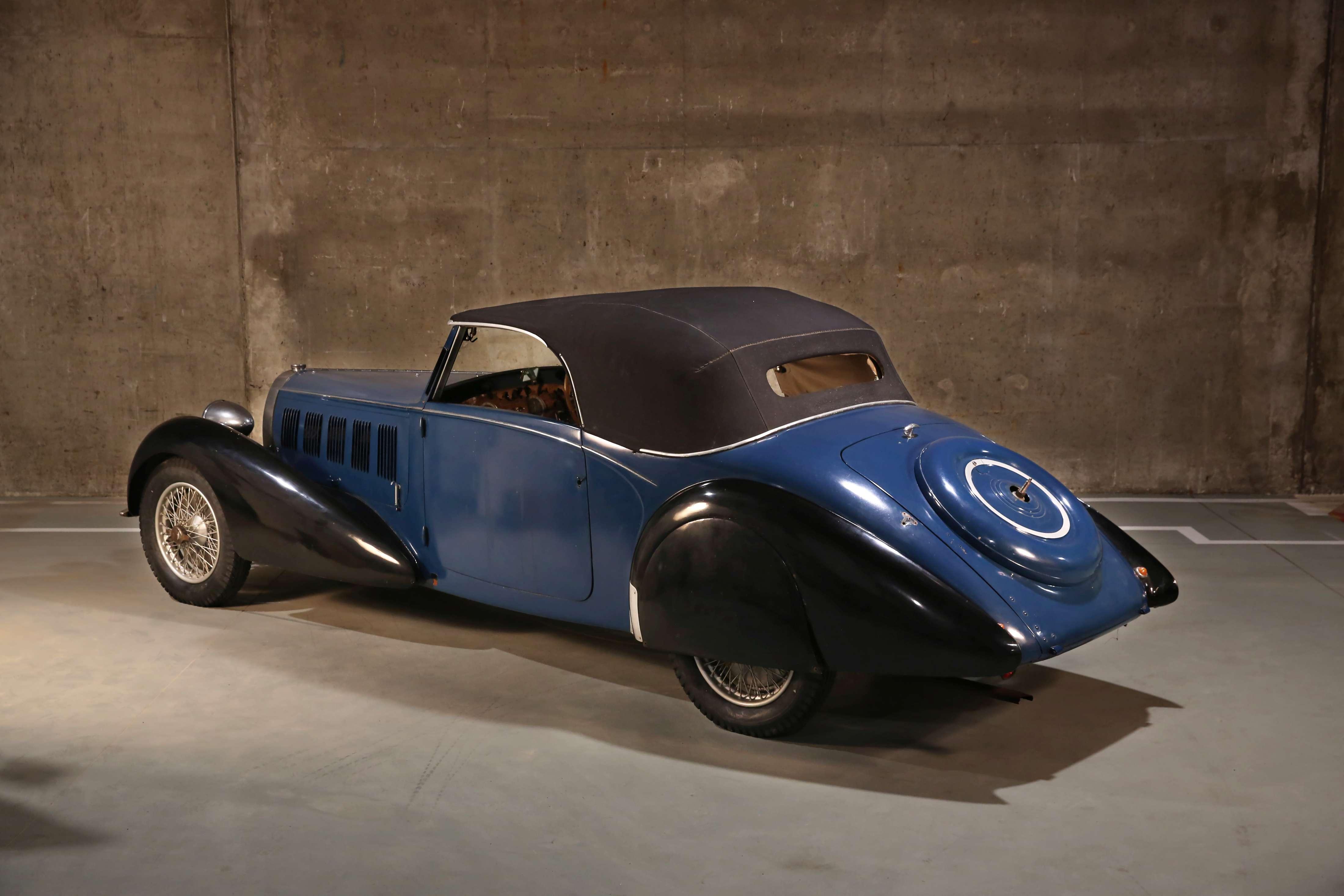 1937 Bugatti Type 57 Cabriolet par Graber rear 3/4