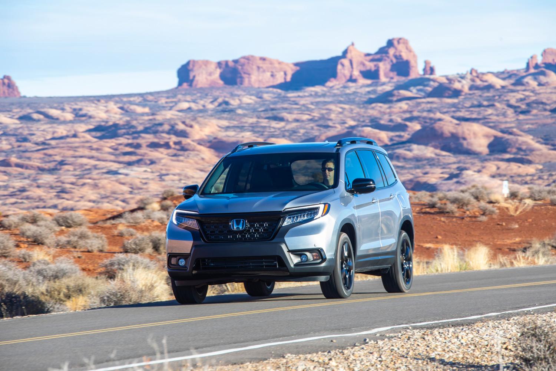 2019 Honda Passport 3/4 front on road