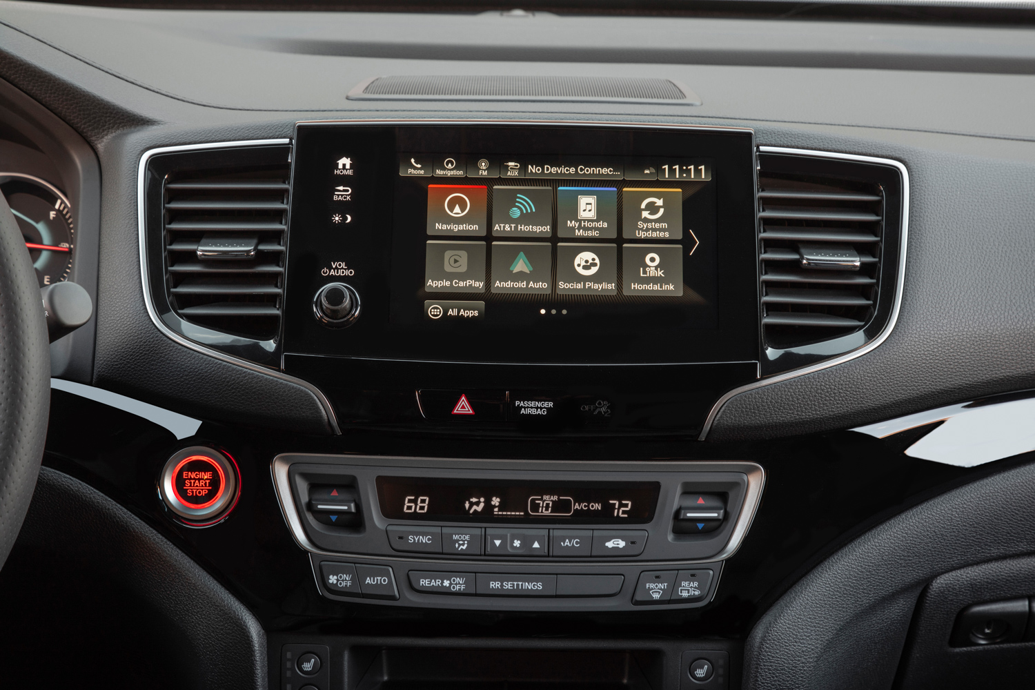 2019 Honda Passport infotainment screen