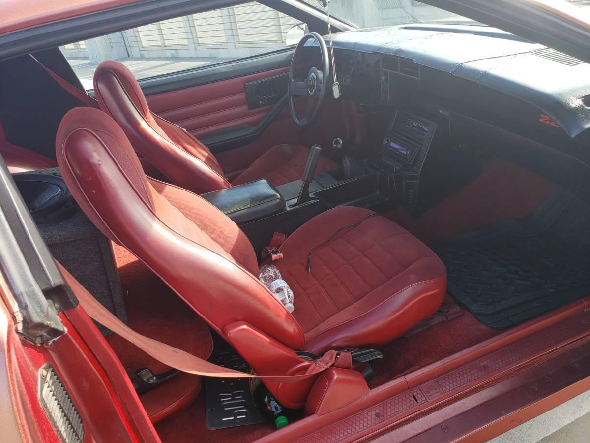 1986 Chevrolet Camaro Z28 passenger interior