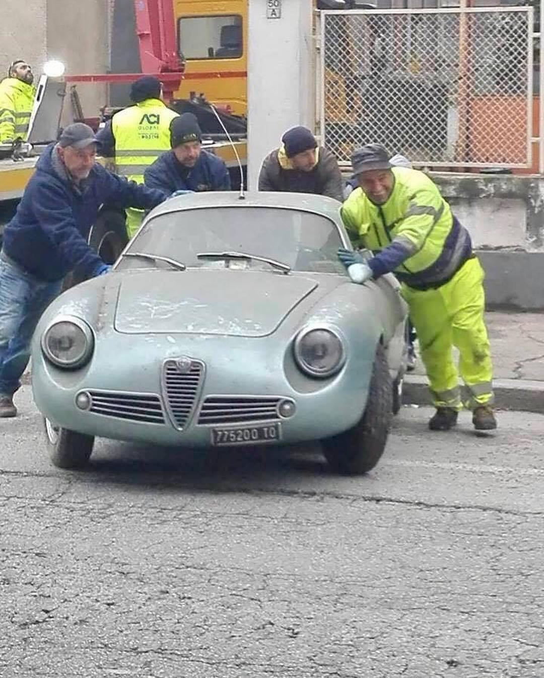 blue 1962 Alfa Romeo Giulietta SZ