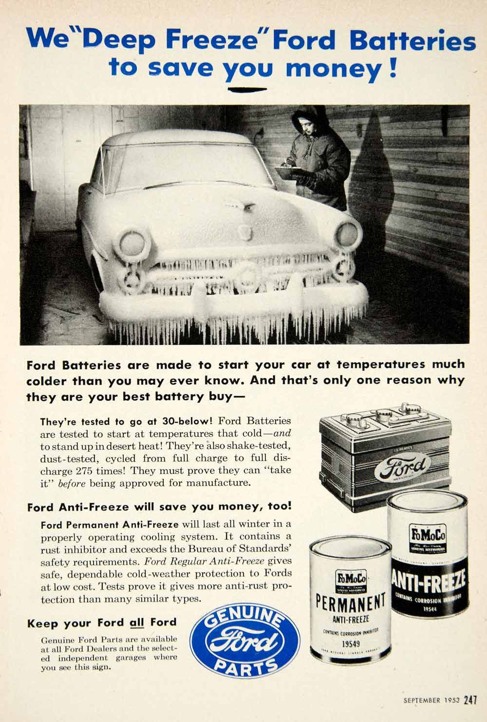 ford battery ad winter