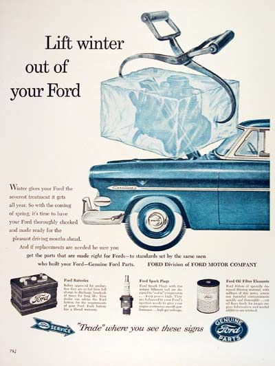 Ford winter ice engine