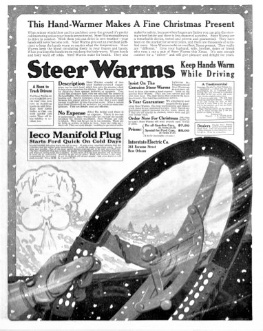 Steering wheel hand warmers