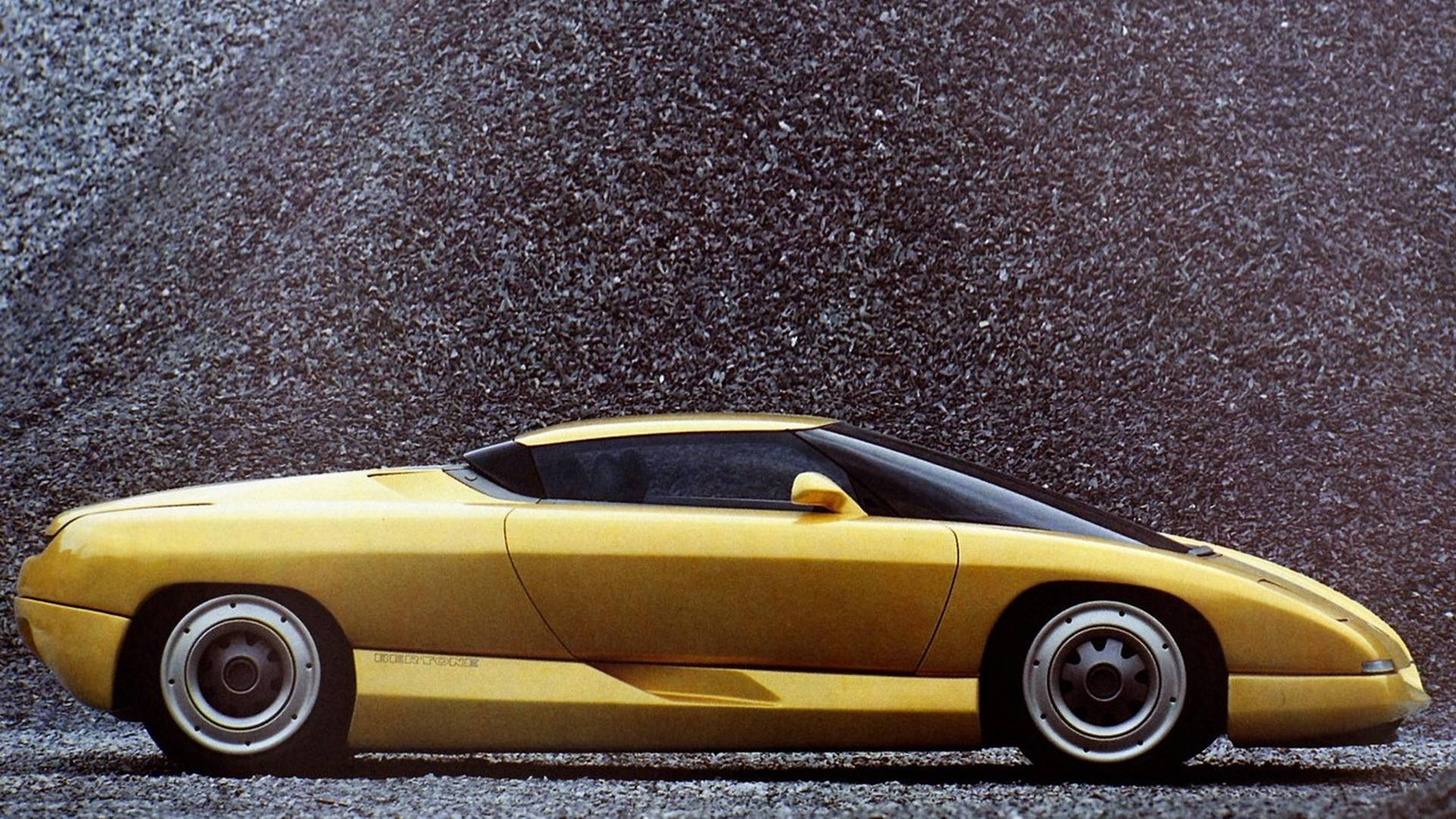 1990 Bertone Nivola concept side profile gravel pit