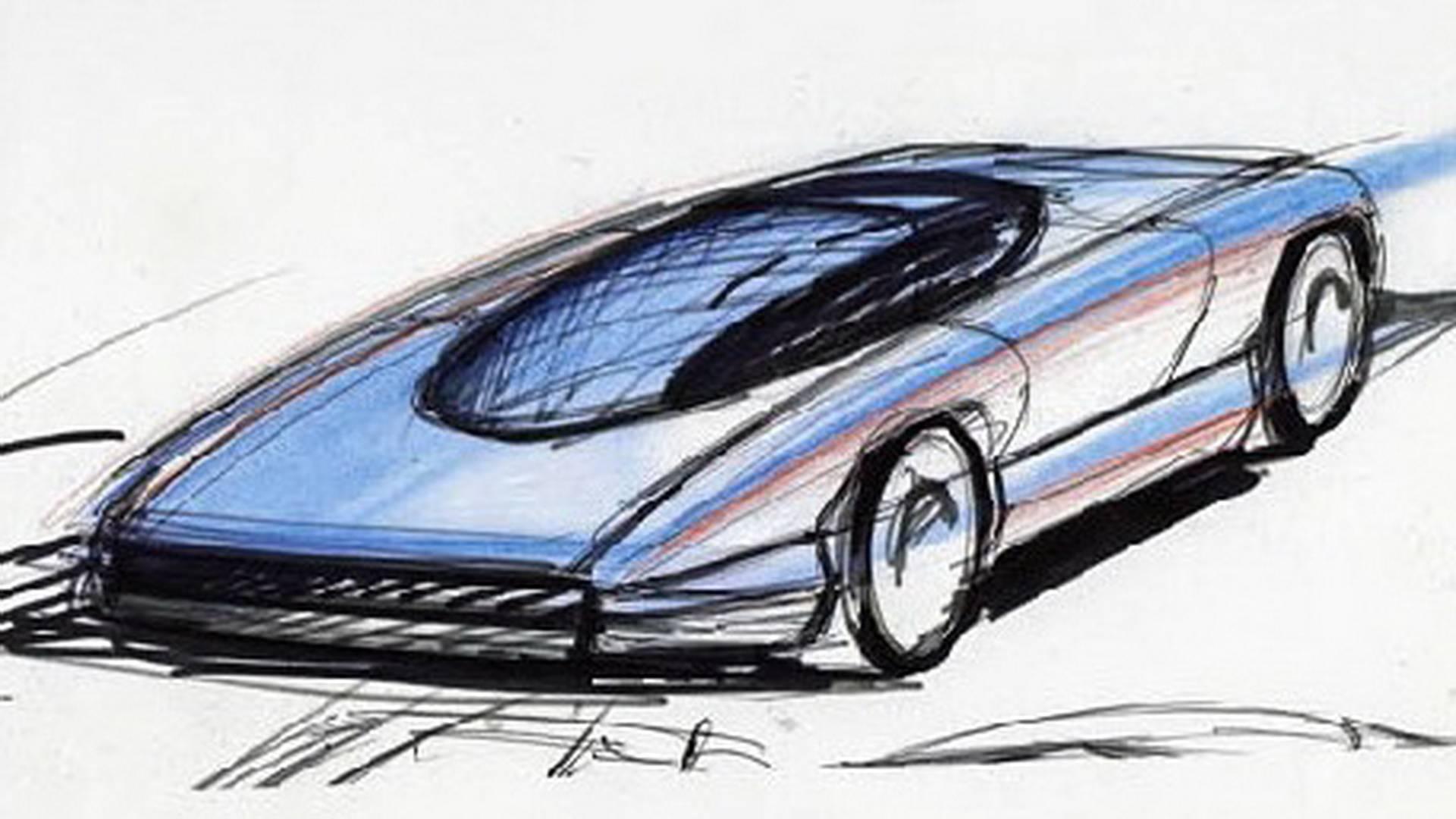 1990 Bertone Nivola concept sketch