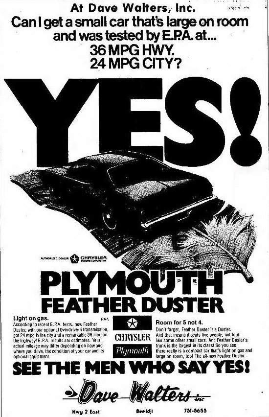 1976 Plymouth Feather Duster advertisement