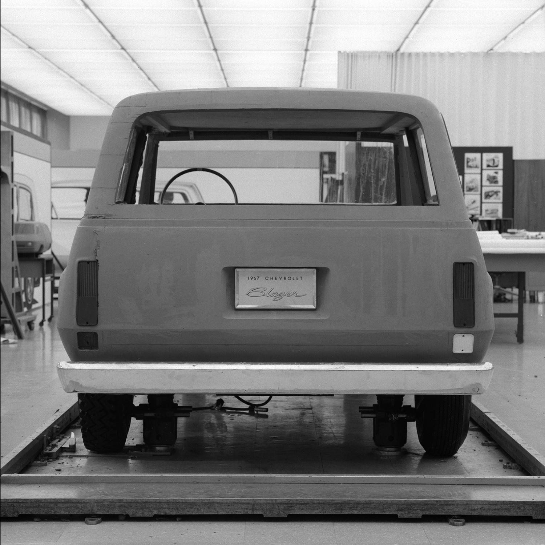1967 Chevrolet Blazer concept design rear end detail