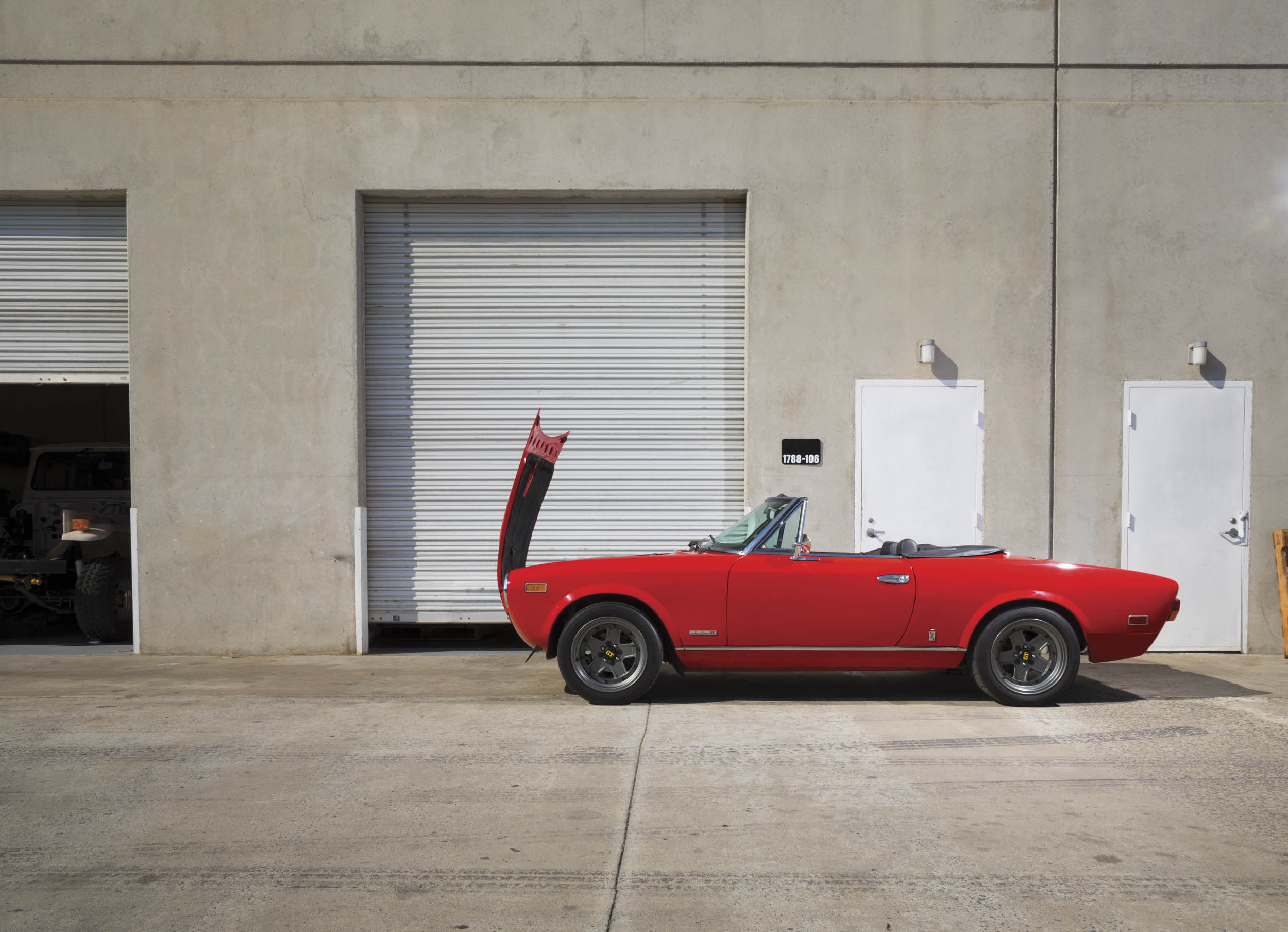 Although EV West specializes in VWs, the shop also featured a Fiat, several BMWs, a De Lorean, and a dune buggy—all of which had been or were being converted to electric power.