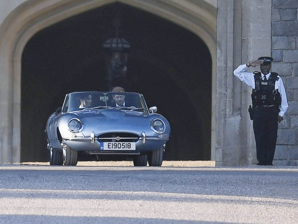 When is a Jaguar E-type not an E-type? When it's an emissionless E-type Zero ferrying the Duke and Duchess of Sussex on their wedding day.