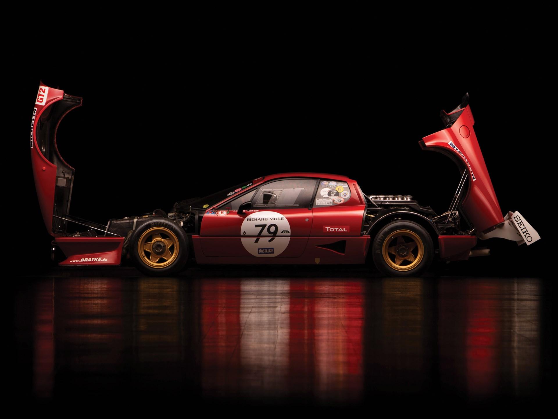 1980 Ferrari 512 BB Competizione side profile hoods up