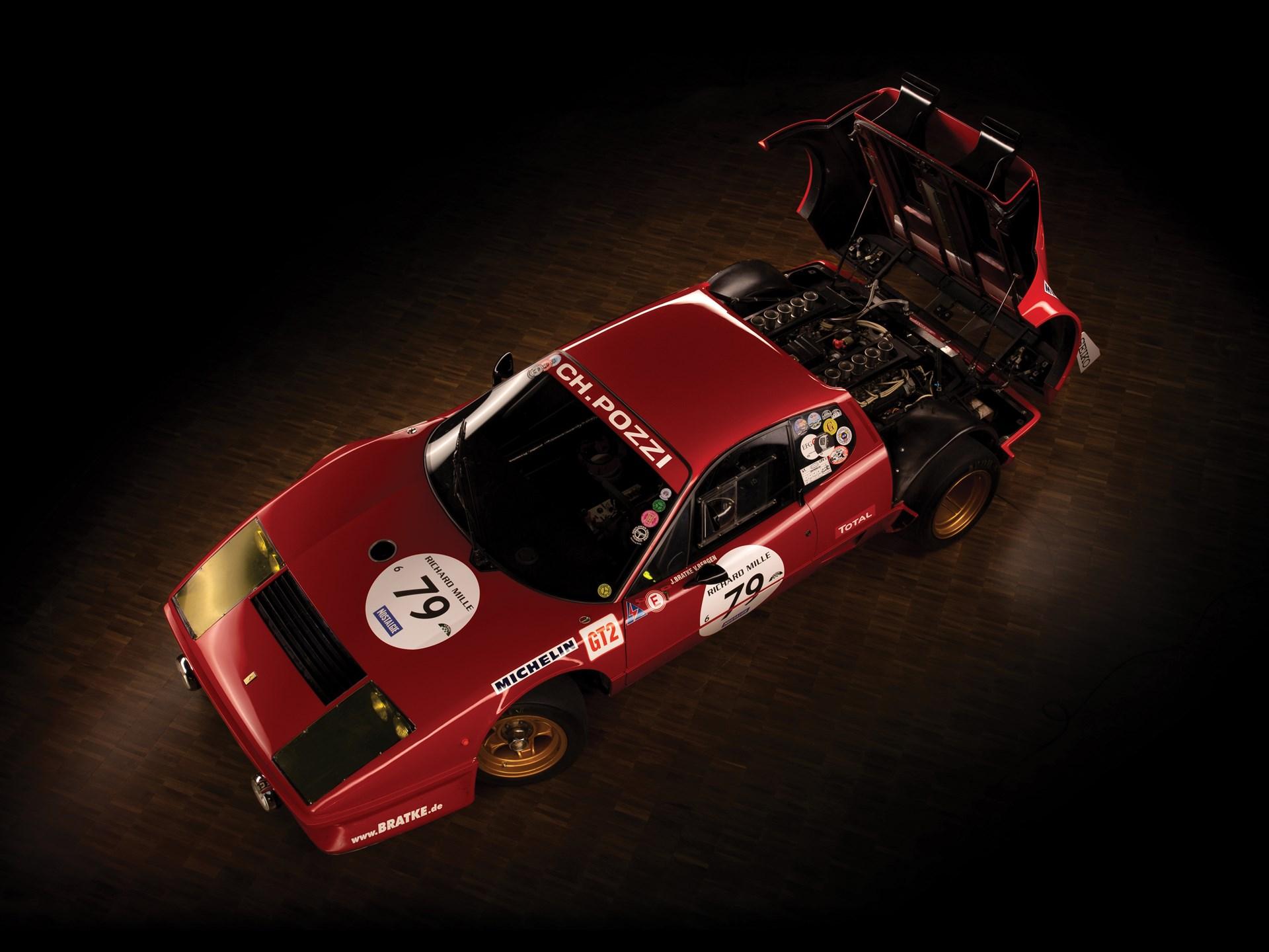 1980 Ferrari 512 BB Competizione above hood open