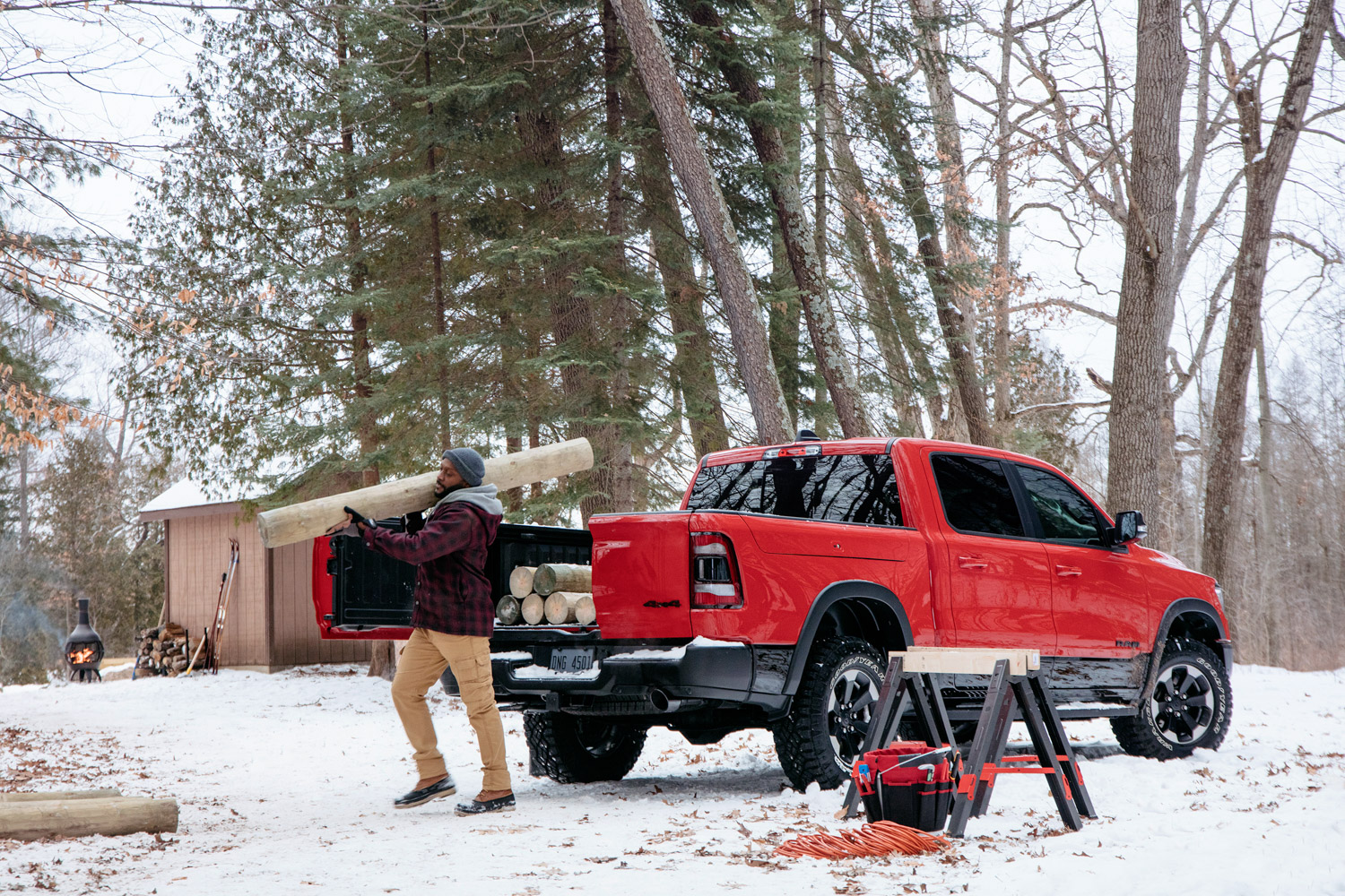 2019 Ram 1500 multifunction tailgate logs unloaded