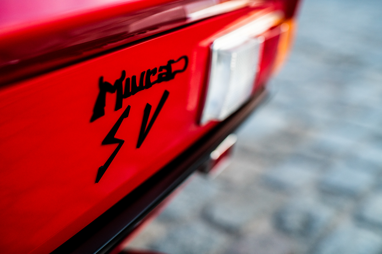1972 Lamborghini Miura SV badge detail