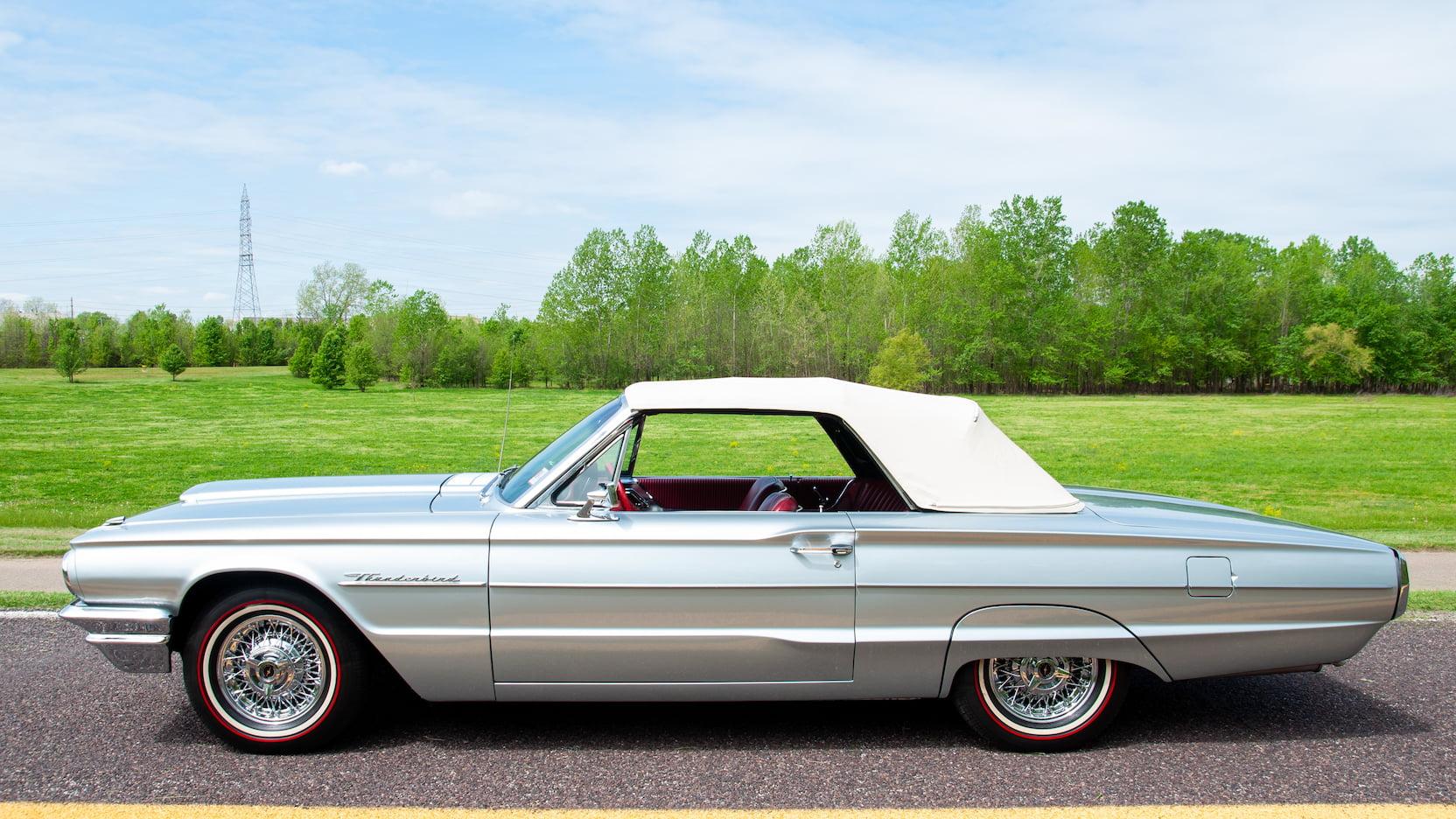 1964 Ford Thunderbird convertible top up