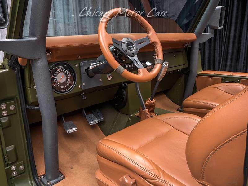 1969 Ford Bronco SEMA Build steering wheel