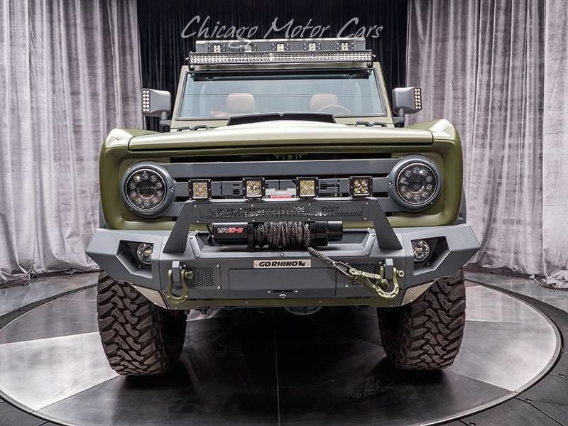 1969 Ford Bronco SEMA Build front end head on