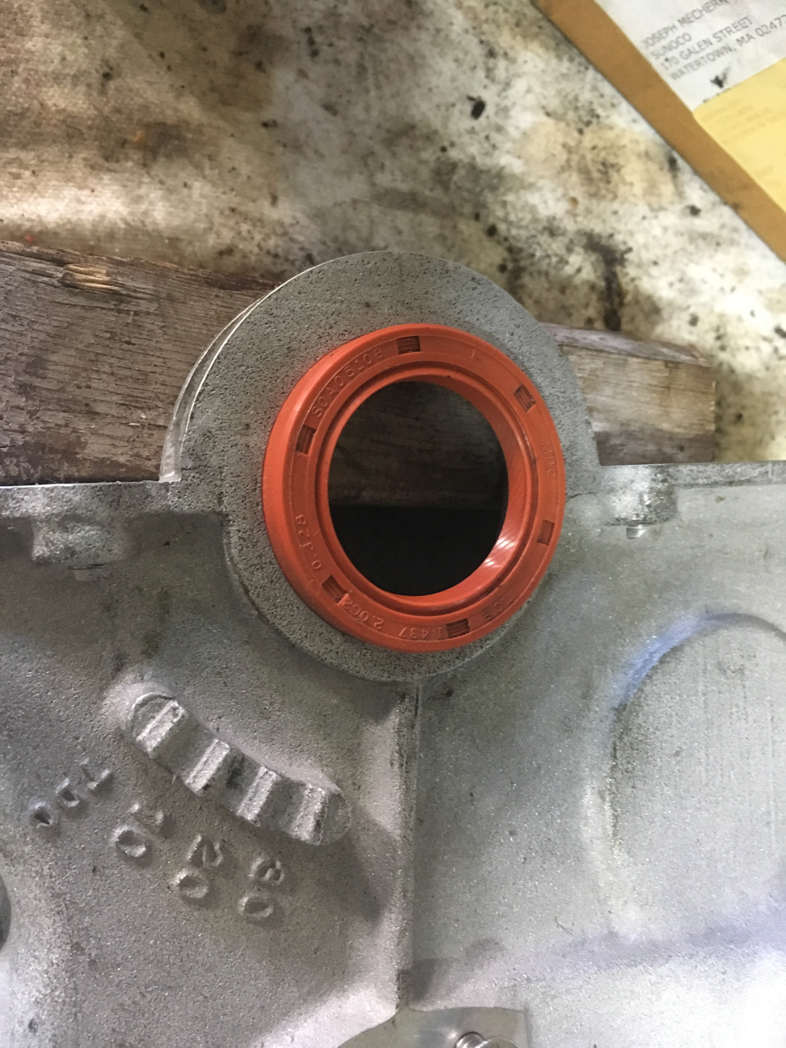 The front main seal prior to installation.