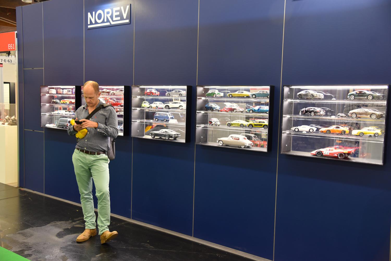 Norev model car display