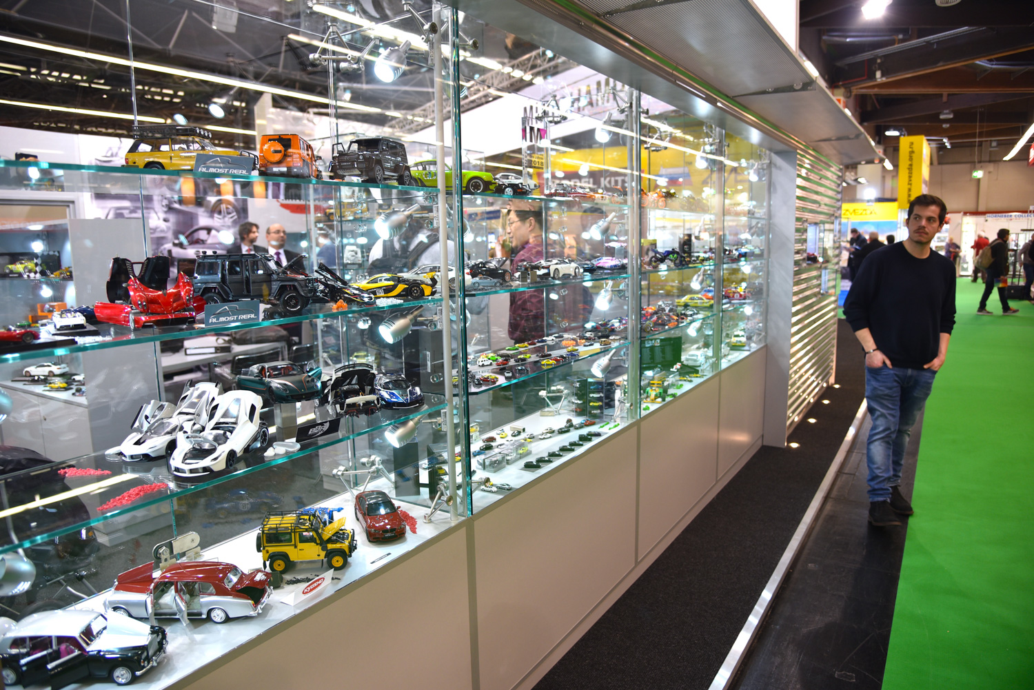 giant toy car display case