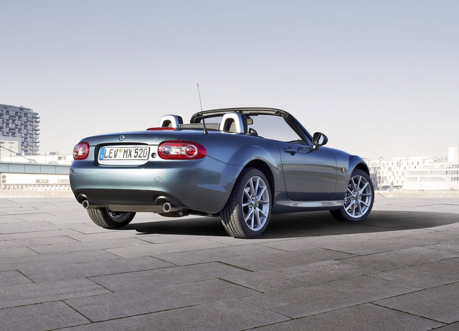 2013 Mazda MX-5 Miata 3/4 front driving low