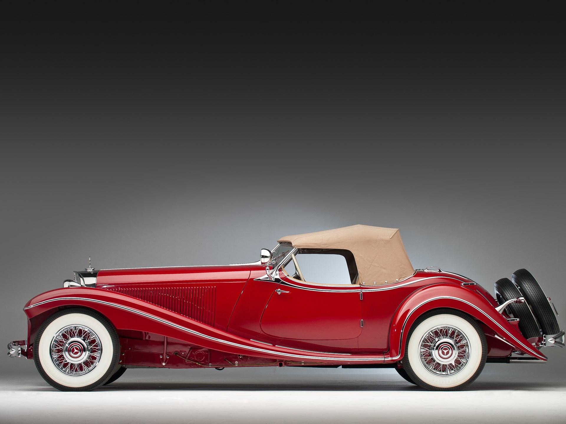 1935 Mercedes-Benz 500k side profile