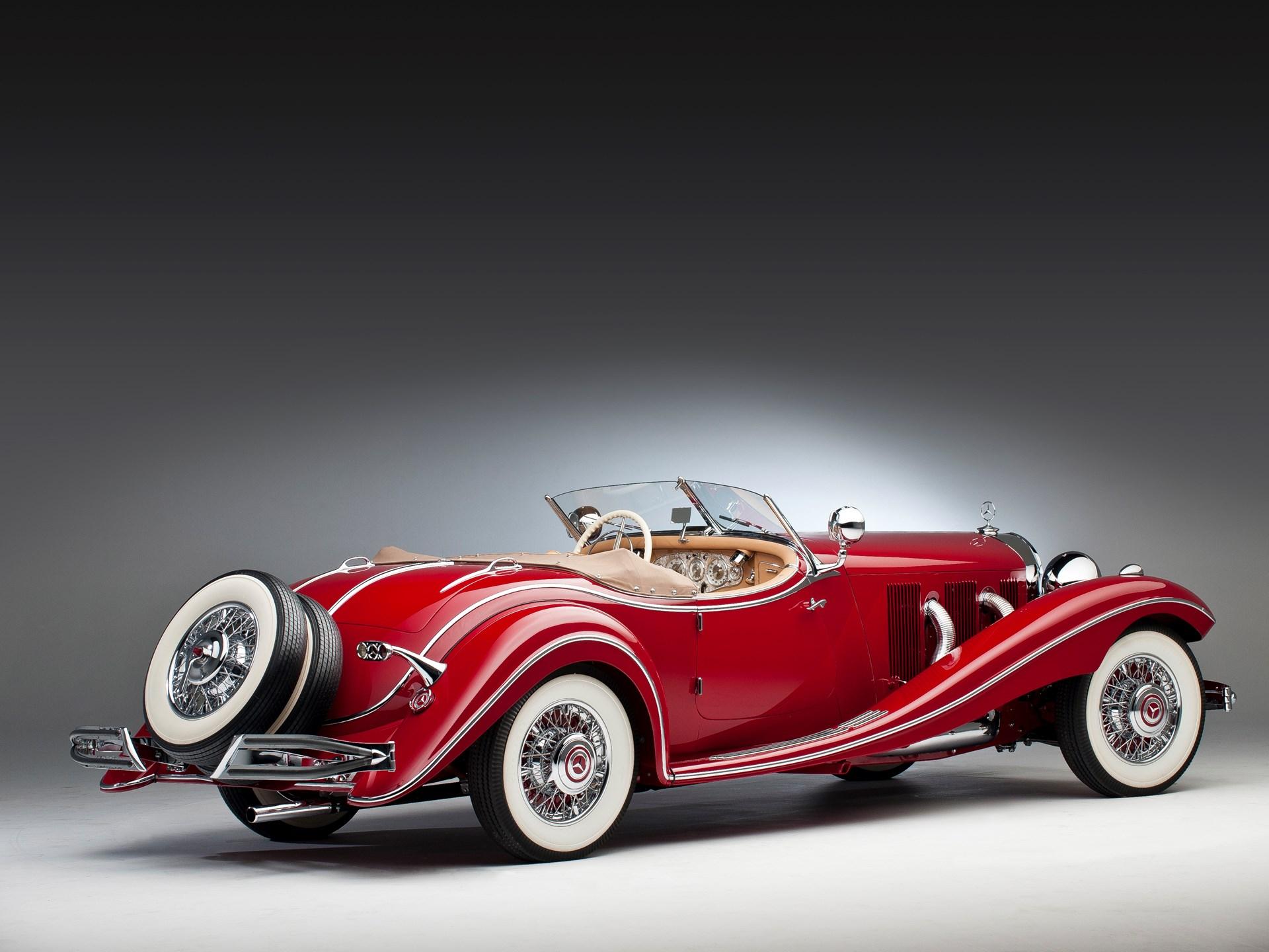1935 Mercedes-Benz 500k 3/4 passenger rear