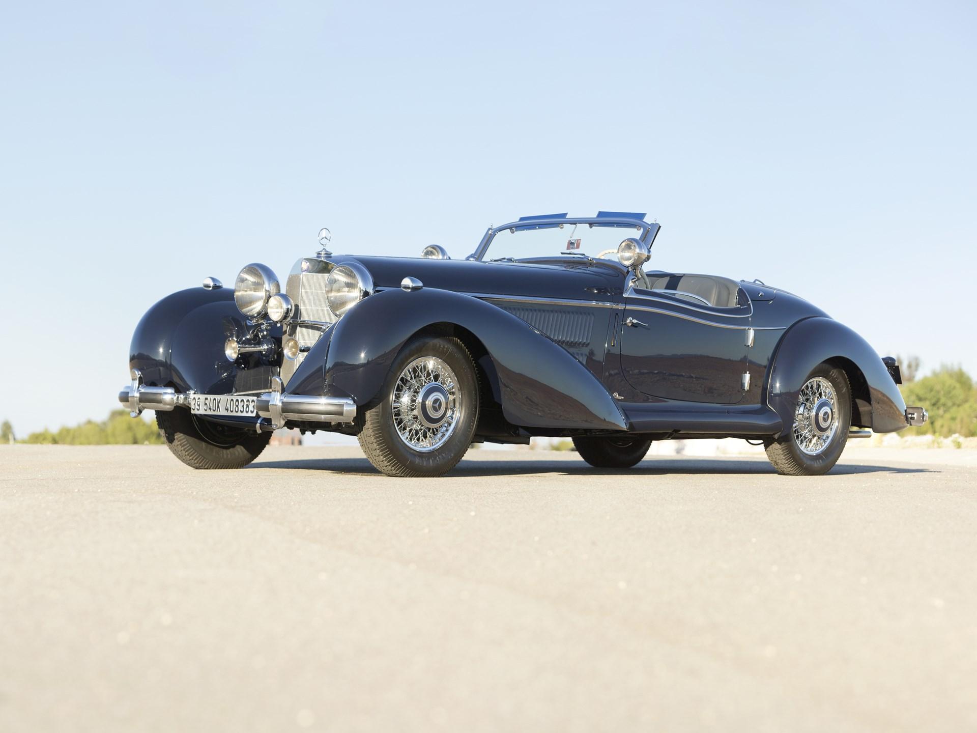 1939 Mercedes-Benz 540k 3/4 front