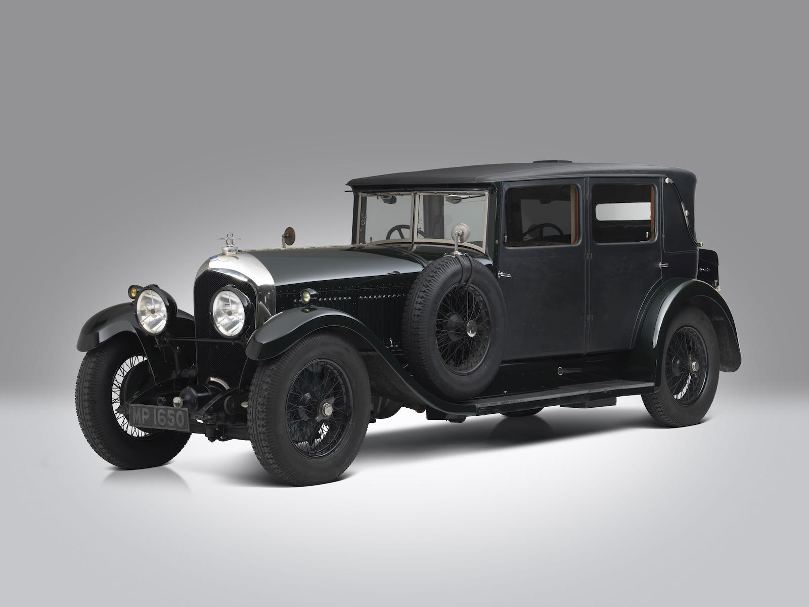 1928 Bentley 6 ½ Liter Four Light Weymann Fabric Sports Saloon