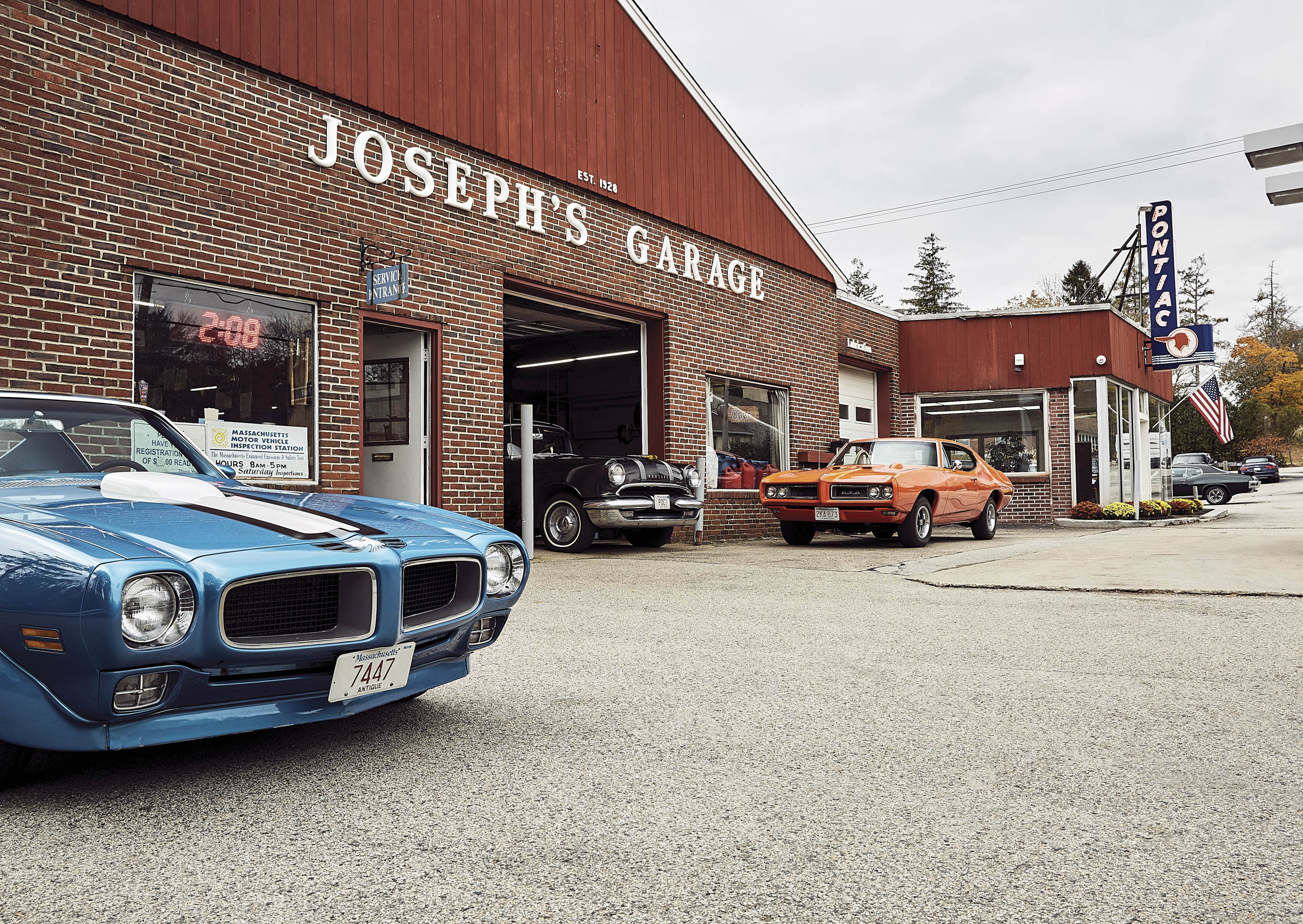 Not much has changed at Joseph's. The old Pontiac sign still reigns above the showroom, and old Pontiac cars are never far away.