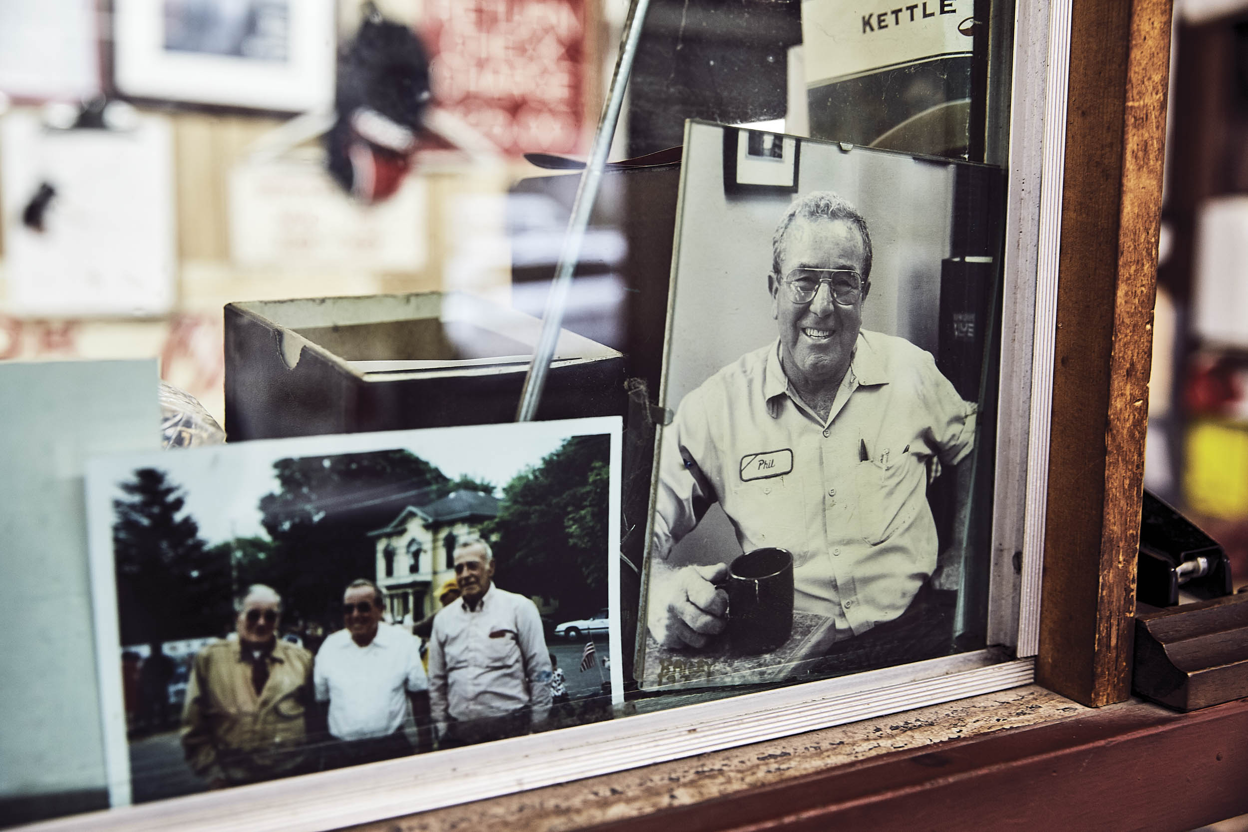 Photos of previous generations of Joseph men are tucked into many places around the shop.