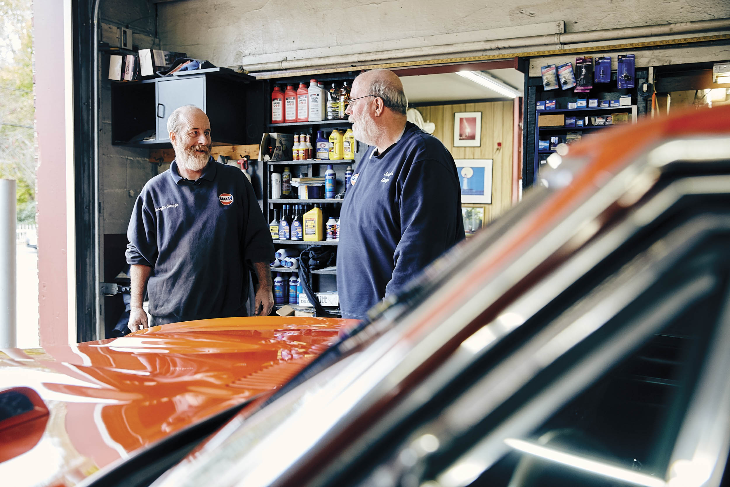 Brothers John (left) and Art are third-generation proprietors of Joseph's Garage, but who comes after is the big question.