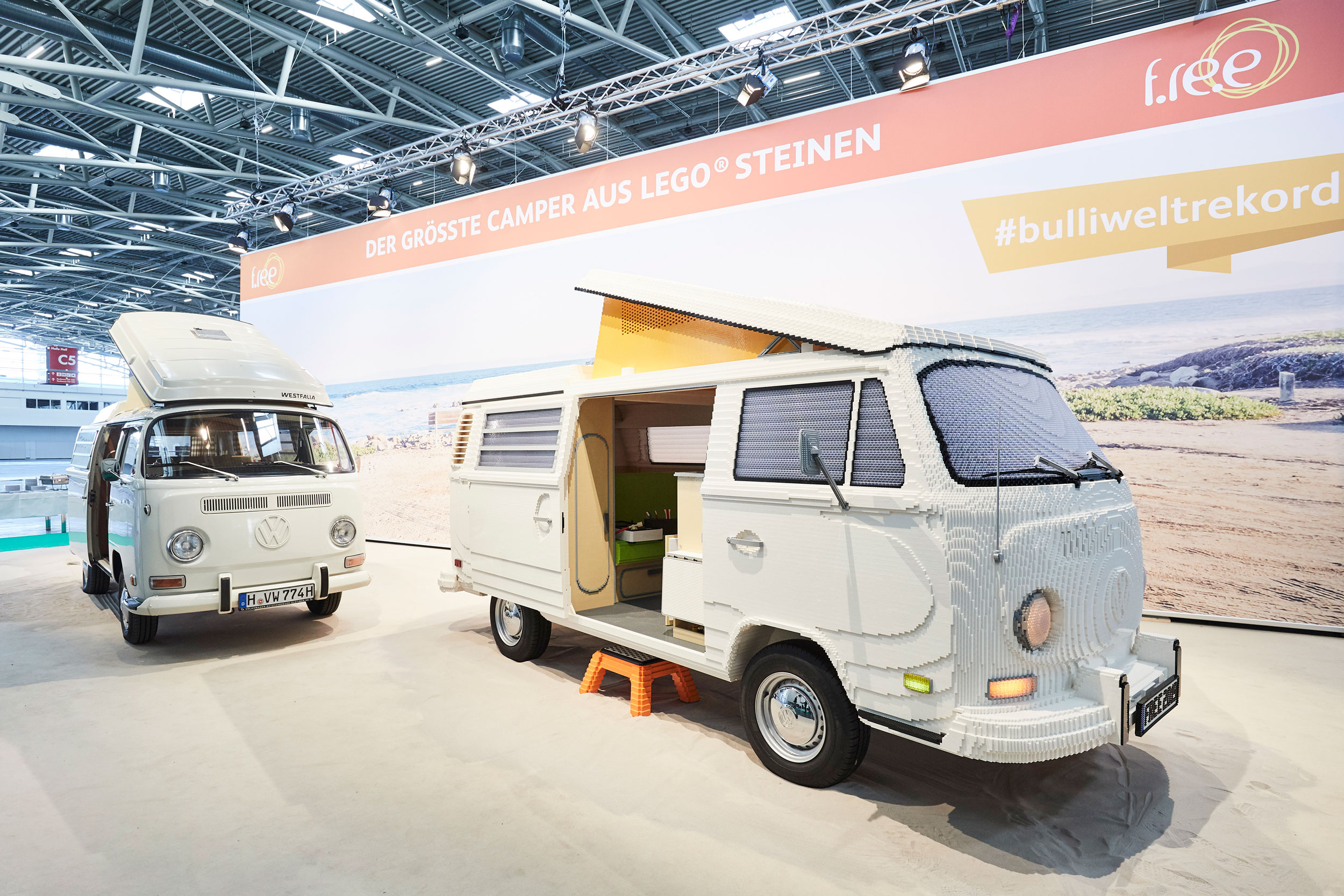 This full-size LEGO VW T2 campervan looks like the real deal