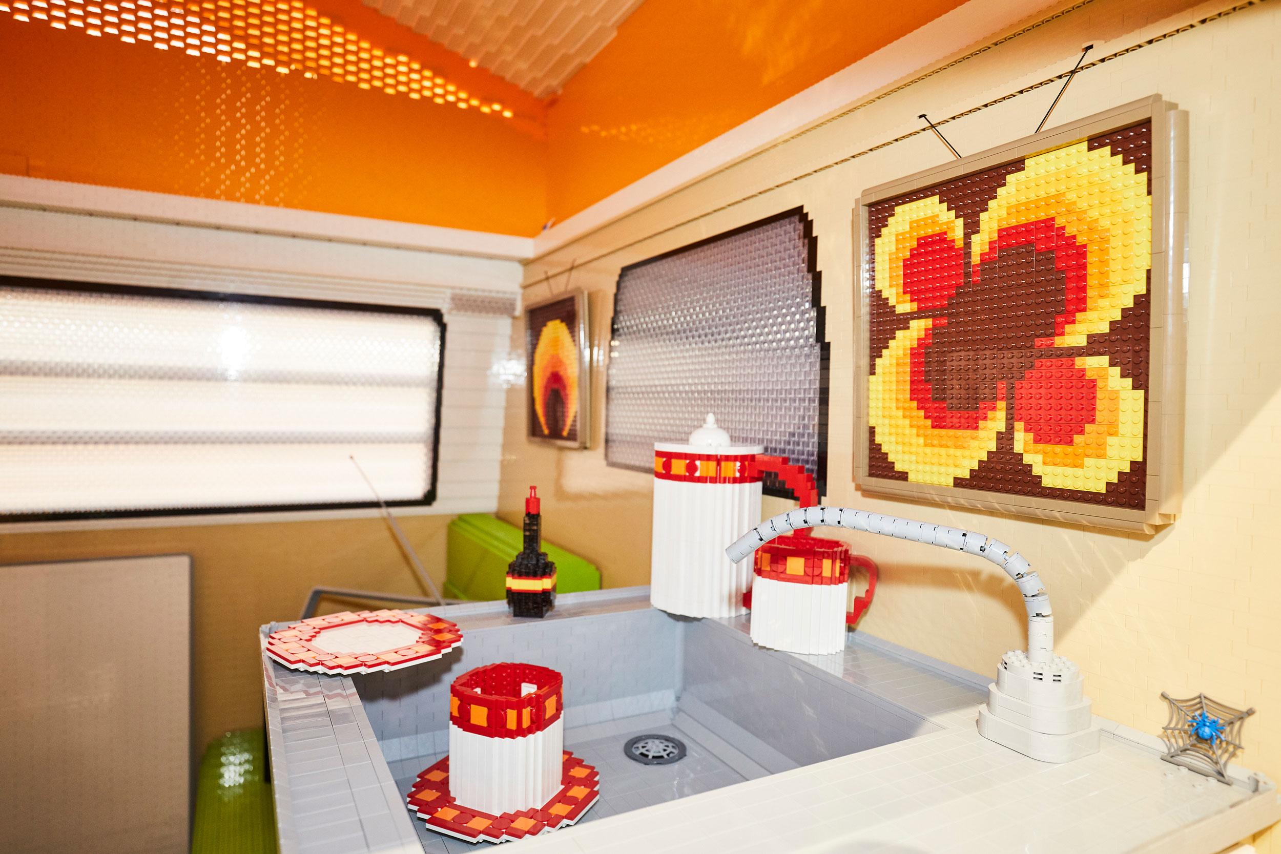 Volkswagen Type 2 created from 400,000 LEGO bricks interior paintings