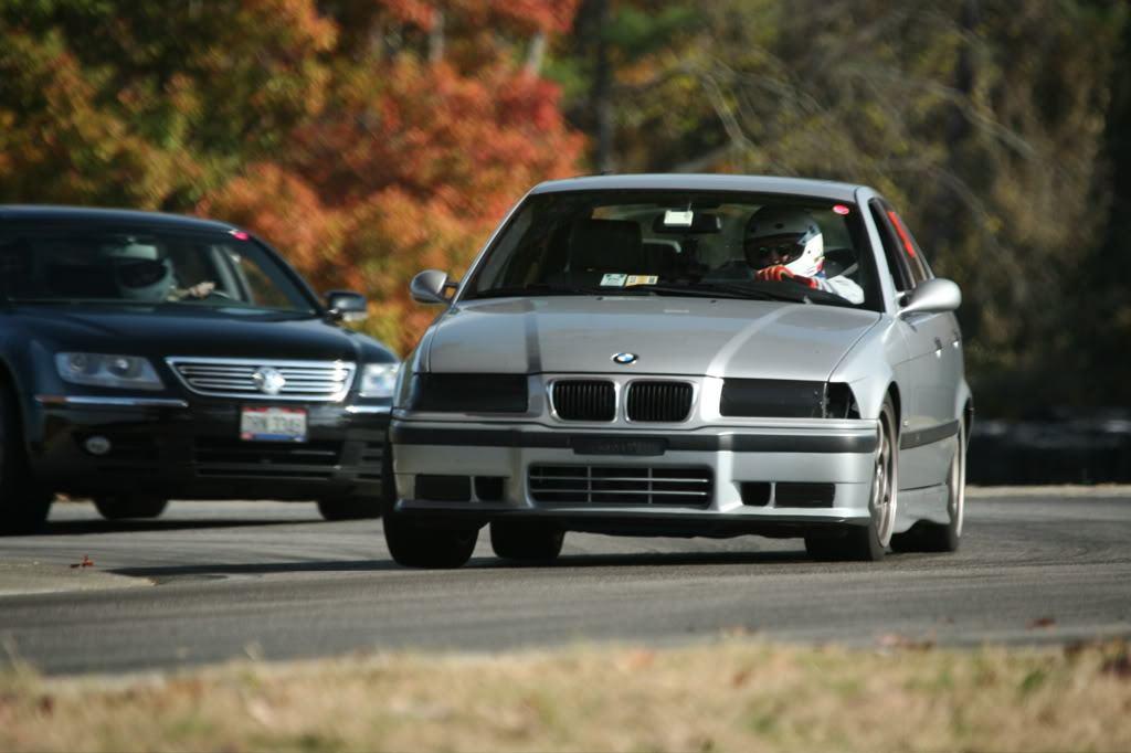 BMW and Volkswagen racing
