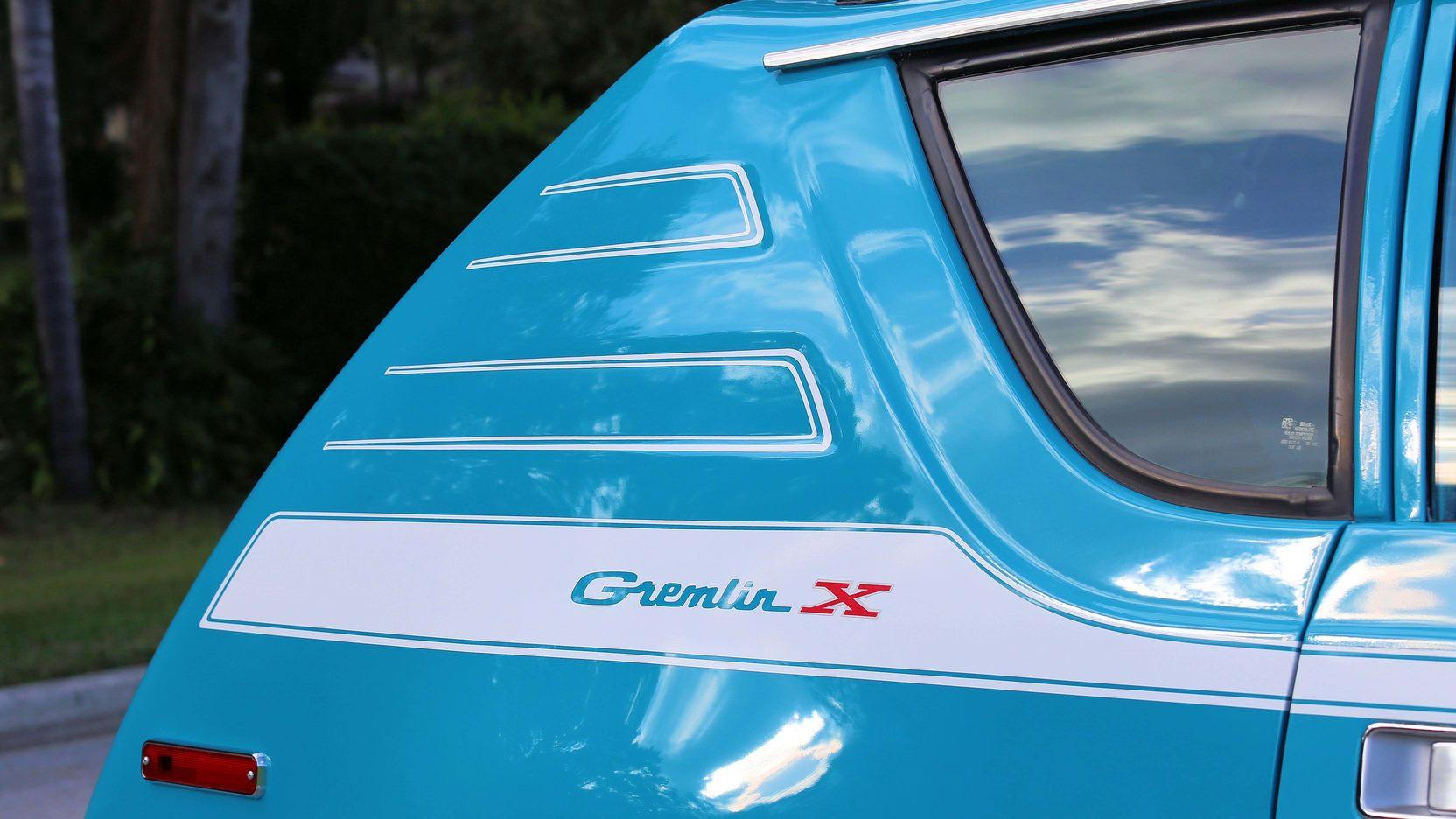 1972 AMC Gremlin X paint detail