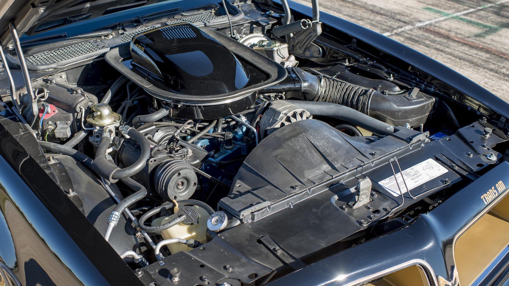 1976 Pontiac Firebird Trans Am engine passenger side