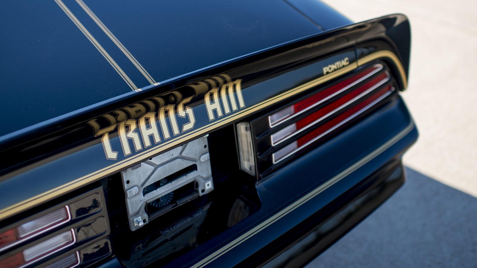 1976 Pontiac Firebird Trans Am rear deck spoiler detail