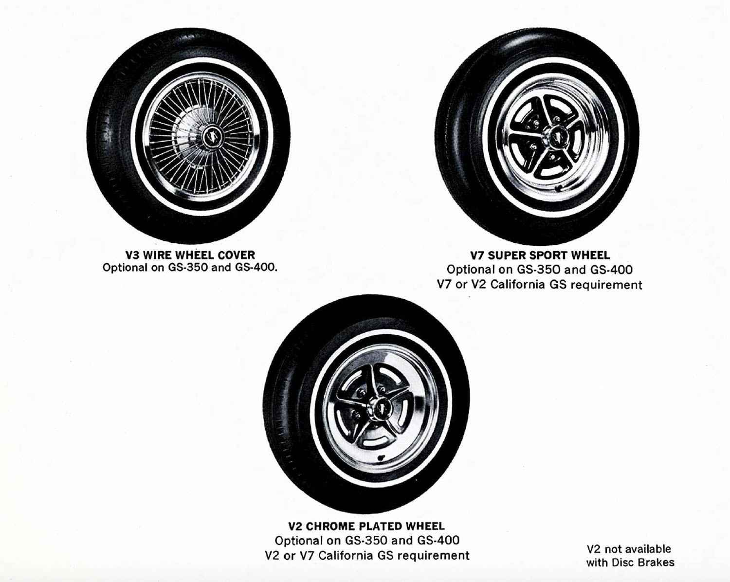 1969 Buick Dealer wheel options