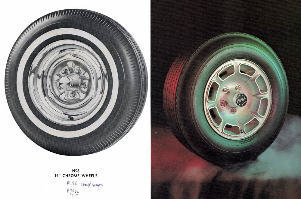 Oldsmobile mag wheel options