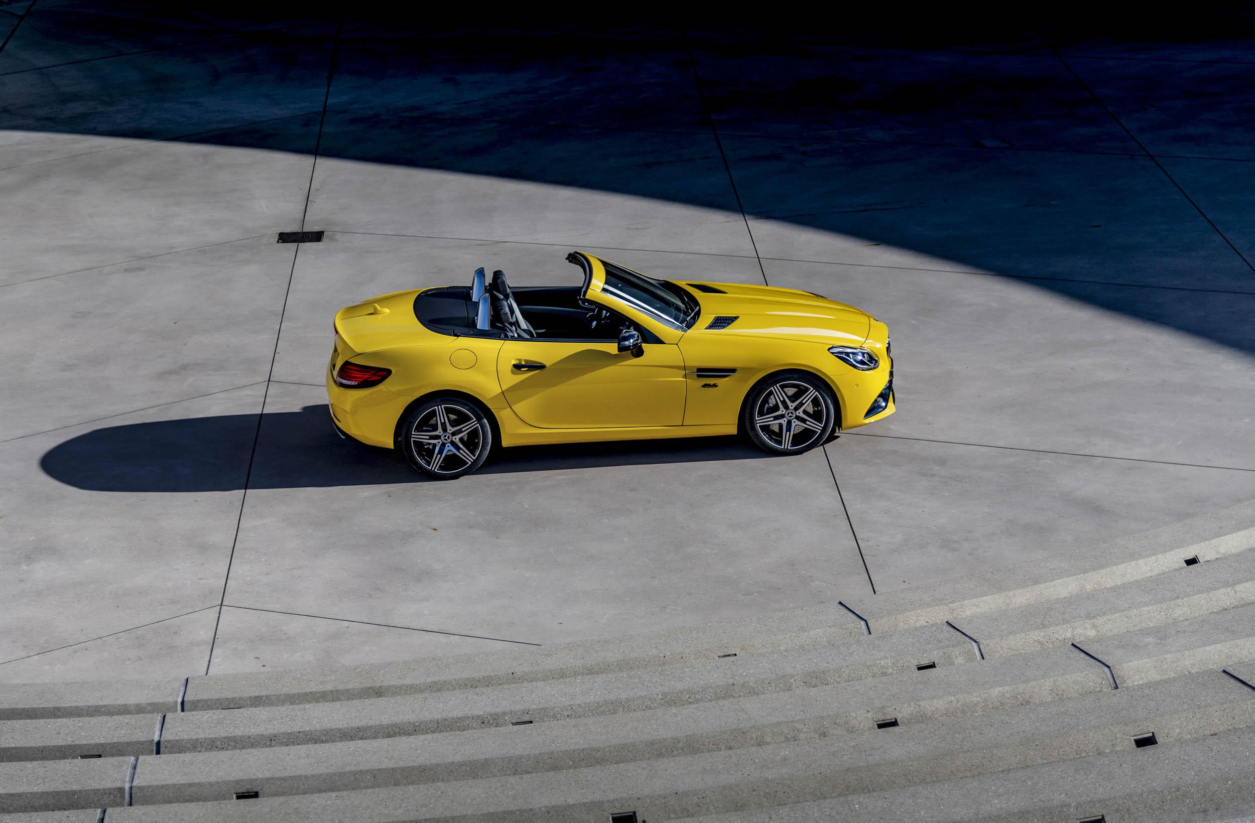 yellow 2020 Mercedes-Benz SLC Final Edition