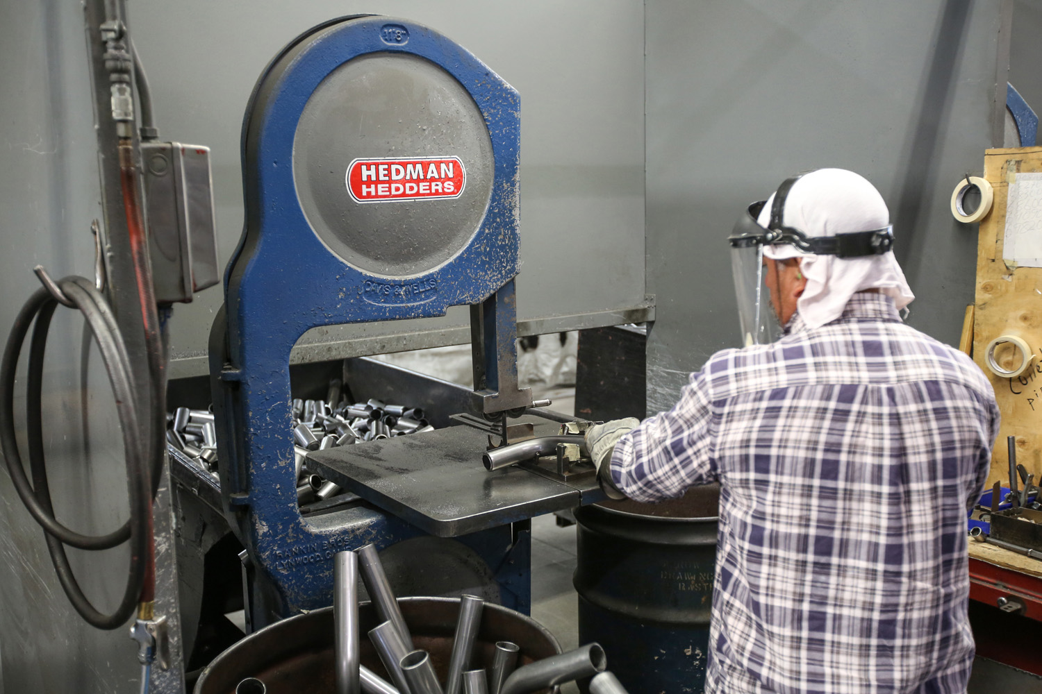 Hedman headers band saw