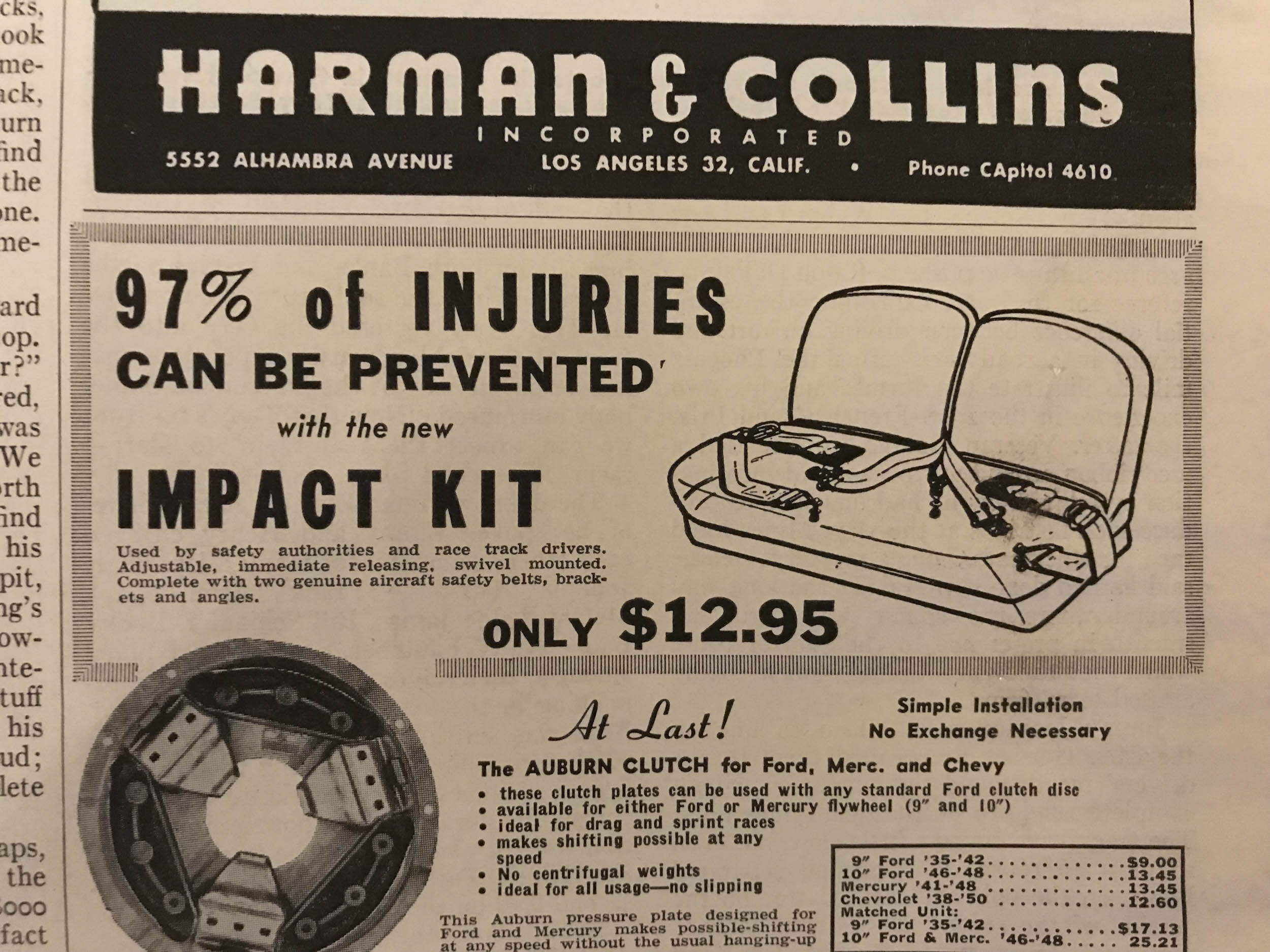 Harman & Collins Impact Kit (1952)