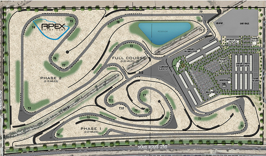 APEX Motor Club course map