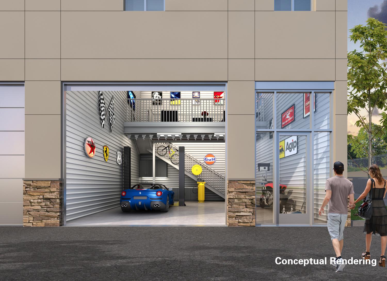 Monterey Motorsport Park / Caleb Scherer garage front door