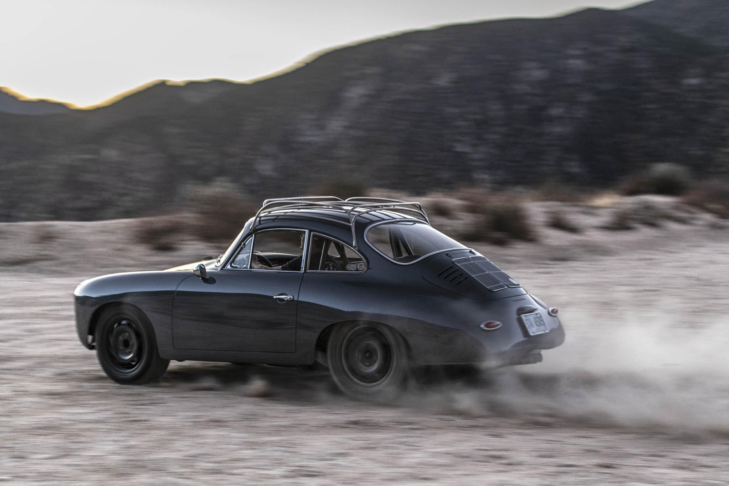 Emory Porsche 356 C4S Allrad kicking up dirt