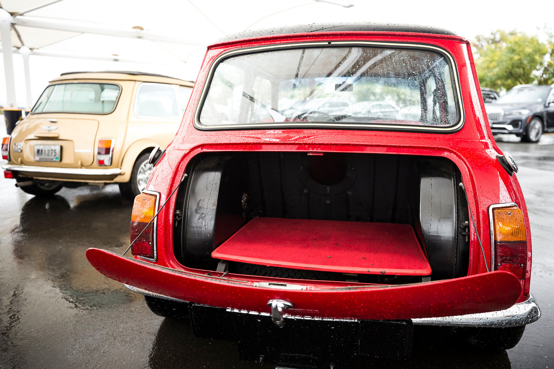 Old mini trunk open