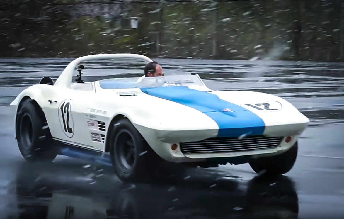 Driving a 1-of-2 Corvette Grand Sport in the snow looks like a blast thumbnail