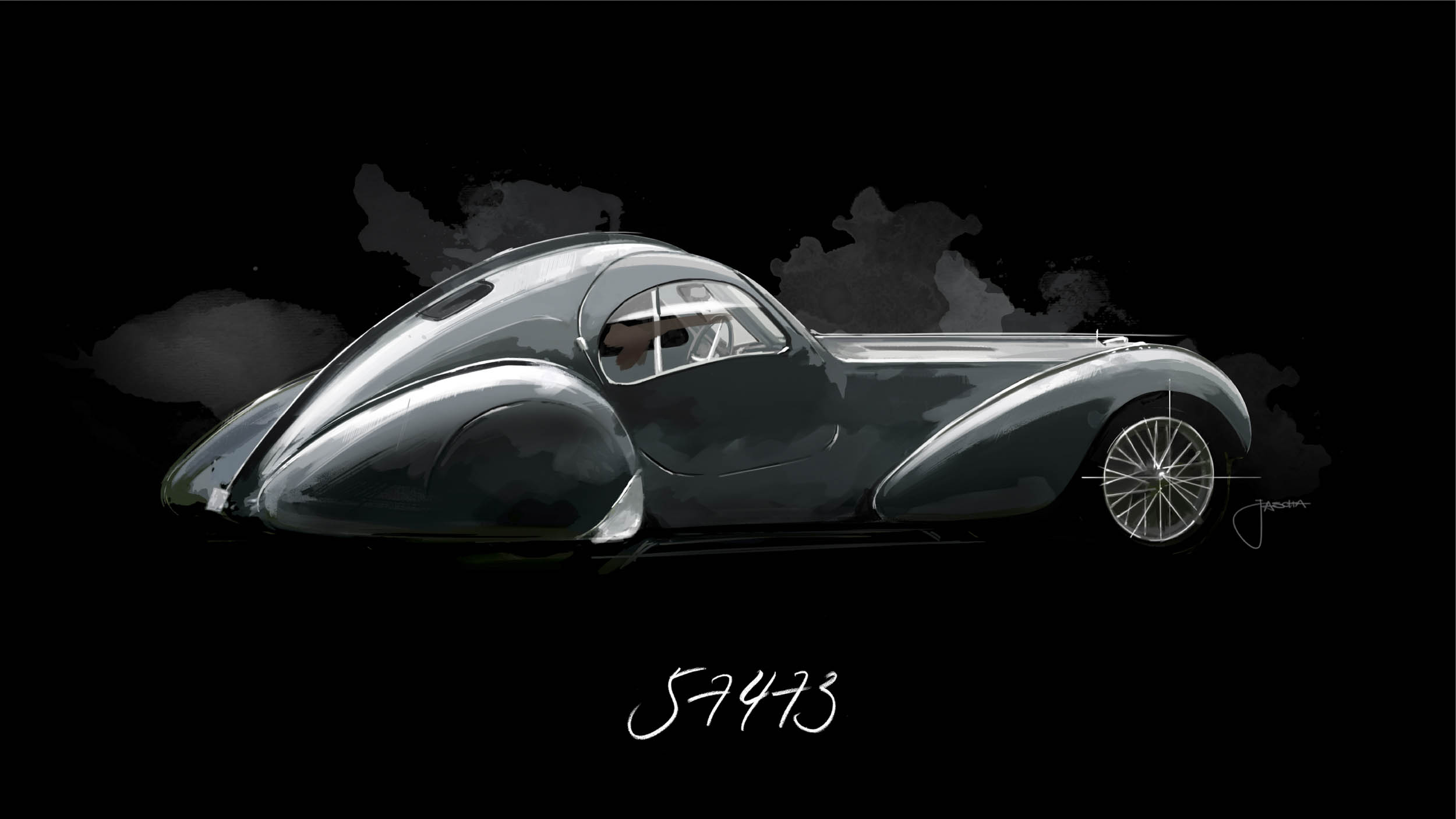 Bugatti Atlantic Chassis 57473, The Holzschuch car